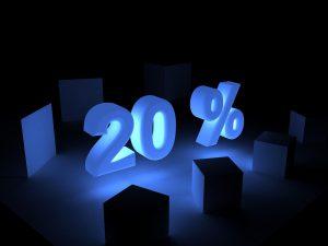 20パーセント