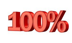 100パーセント