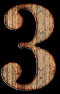 3 number
