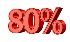 80パーセント