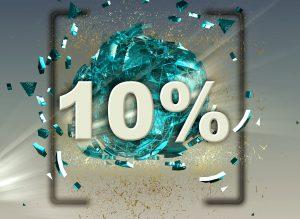 10 割合