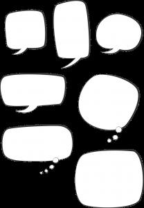 会話 吹き出し