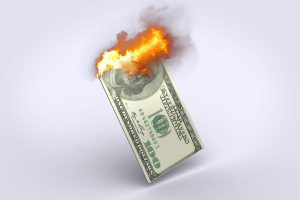 お金 燃える